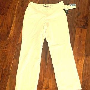 Style & Co. Petite White Straight Leg Pants  NWT-